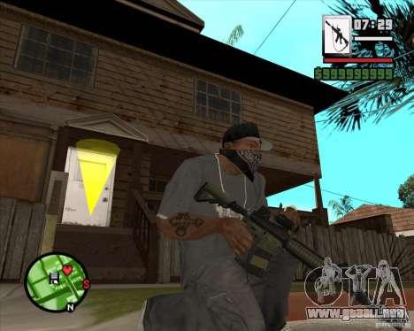 HQ M4A1 - DMG MK11 para GTA San Andreas tercera pantalla