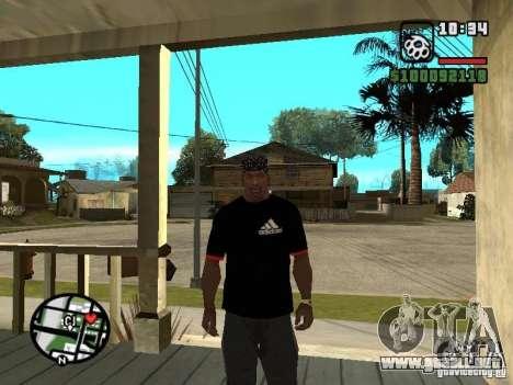 Rammstein camiseta v3 para GTA San Andreas segunda pantalla