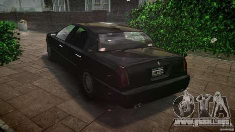 Washington FBI Car para GTA 4 Vista posterior izquierda