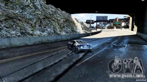Audi R8 Spider 2011 para GTA 4 vista desde abajo
