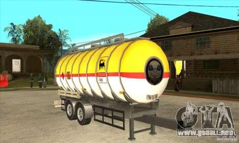 Trailer Tunk para GTA San Andreas vista hacia atrás