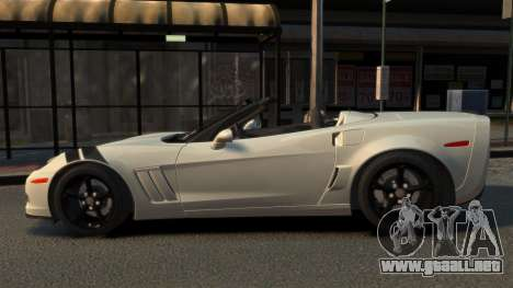 Chevrolet Corvette C6 2010 Convertible v2.0 para GTA 4 left