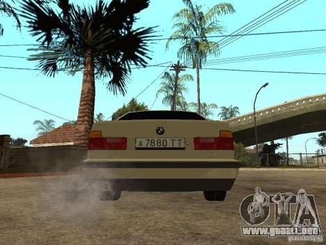 BMW 520i para GTA San Andreas vista posterior izquierda