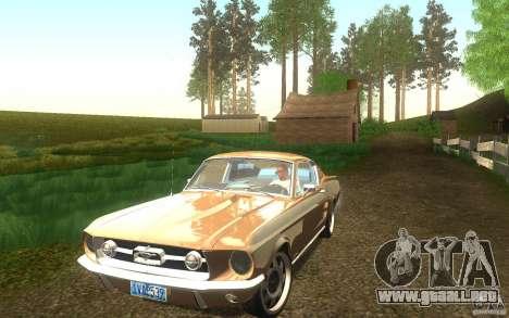 Ford Mustang 1967 American tuning para vista lateral GTA San Andreas