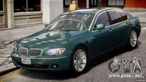 BMW 7 Series E66 para GTA 4 vista interior