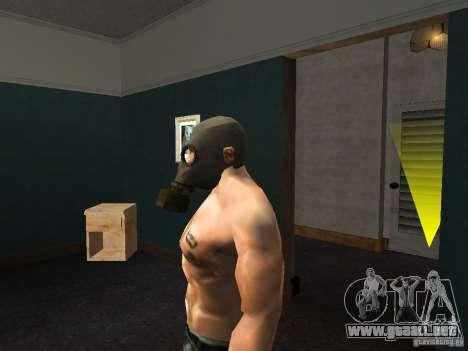 Máscara de gas para GTA San Andreas tercera pantalla