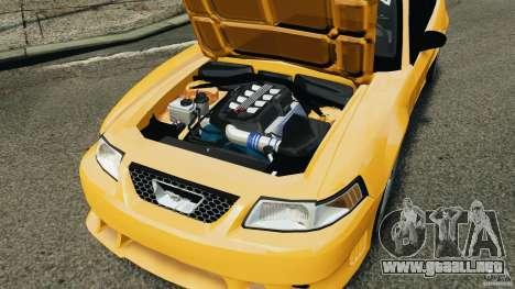 Saleen S281 2000 para GTA 4 vista interior