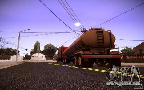 Trailer Kenworth T600 para GTA San Andreas vista hacia atrás