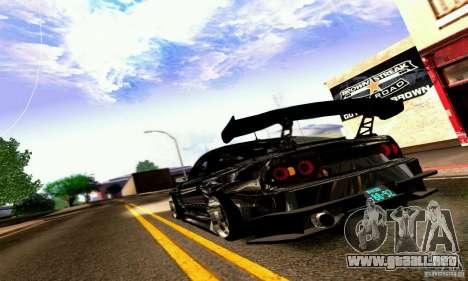 Nissan 180SX Gkon - Drift chrome para la visión correcta GTA San Andreas