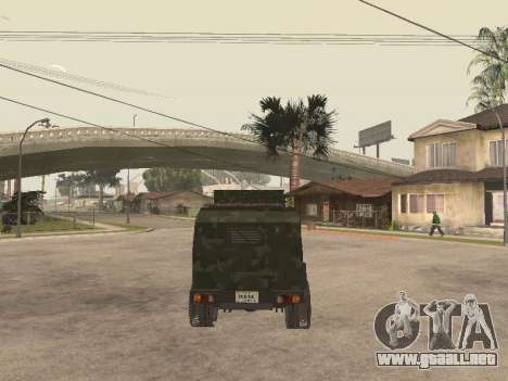Oshkosh SandCat of Mexican Army para GTA San Andreas vista hacia atrás