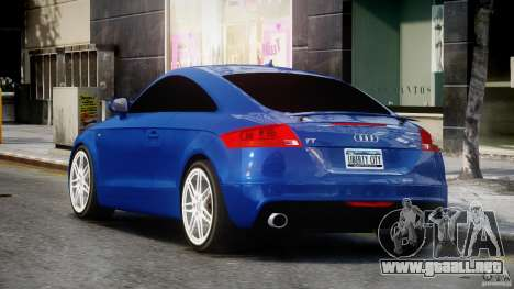 Audi TT RS Coupe v1.0 para GTA 4 Vista posterior izquierda