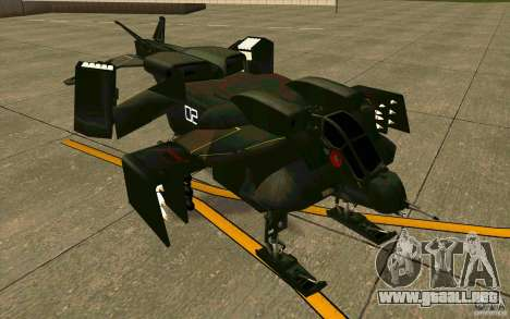 Aliens vs. Predator Marine Drobship para GTA San Andreas left