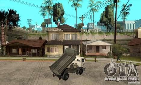 5551 MAZ camión para la visión correcta GTA San Andreas