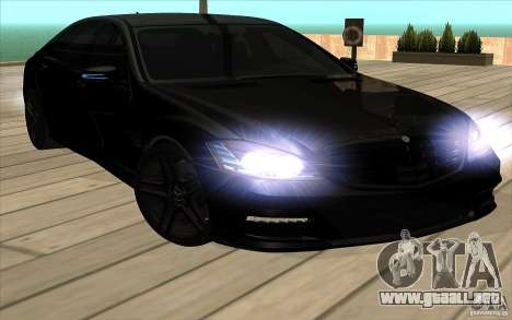 Mercedes-Benz S65 AMG con luces intermitentes para visión interna GTA San Andreas