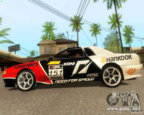 Need for Speed Elegy para visión interna GTA San Andreas