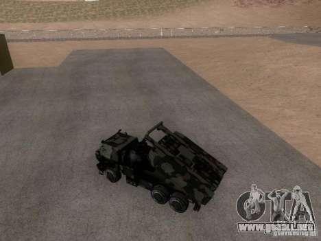 M142 HIMARS Artillery para GTA San Andreas vista posterior izquierda