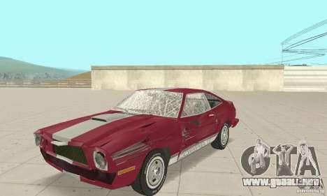 Ford Mustang II 1976 Cobra v. 1.01 para visión interna GTA San Andreas