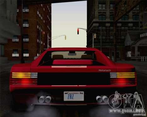 Ferrari Testarossa 1986 para la visión correcta GTA San Andreas