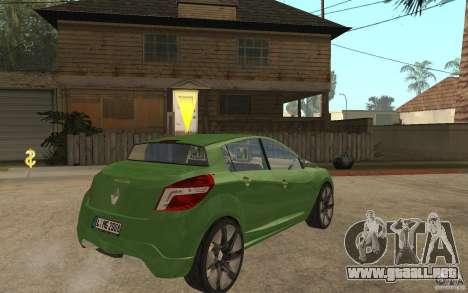 Renault Megane III para la visión correcta GTA San Andreas
