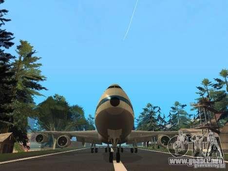 Boeing 747-100 Pan American Airways para GTA San Andreas vista hacia atrás