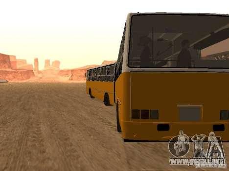 IKARUS 280.46 para GTA San Andreas vista hacia atrás