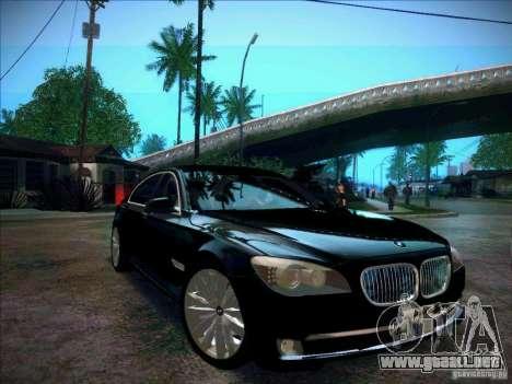 BMW 750Li 2010 para la visión correcta GTA San Andreas