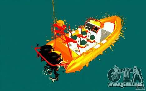 Inferno orange para GTA San Andreas vista posterior izquierda