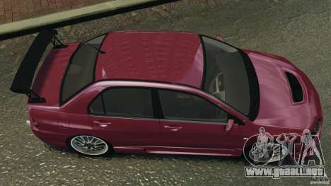 Mitsubishi Lancer Evolution 8 para GTA 4 visión correcta