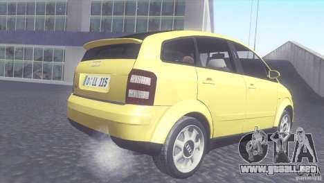 Audi A2 para la visión correcta GTA San Andreas