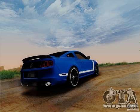 Ford Mustang Boss 302 para GTA San Andreas vista posterior izquierda