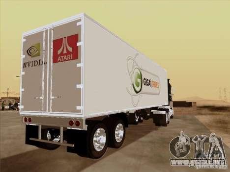 Caband trailer para GTA San Andreas vista posterior izquierda