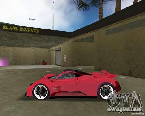 Pagani Zonda S para GTA Vice City left