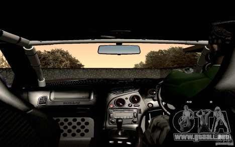 Mazda RX-7 Hellalush para vista inferior GTA San Andreas