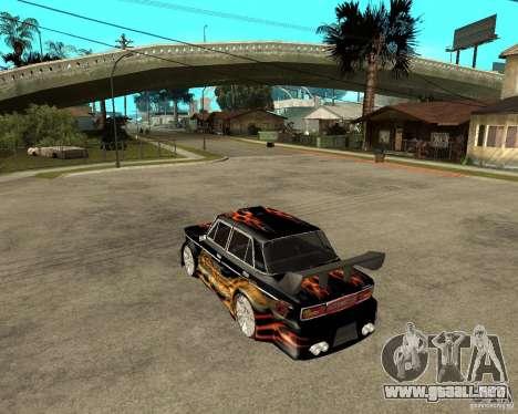 Melodía 2106 VAZ GTX para GTA San Andreas vista posterior izquierda