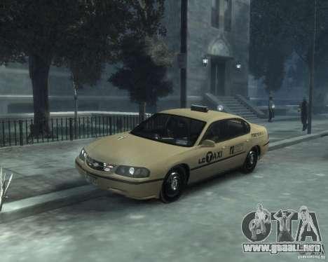 Chevrolet Impala 2003 Taxi para GTA 4 left