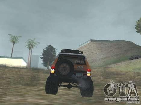 Tornalo 2209SX 4x4 para GTA San Andreas vista hacia atrás