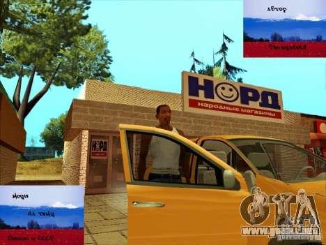 Tiendas rusas detrás de la casa de CJ para GTA San Andreas sucesivamente de pantalla