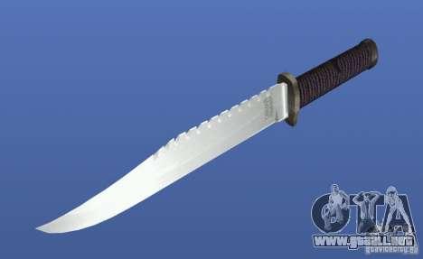 Cuchillo de Rambo sin firma para GTA 4