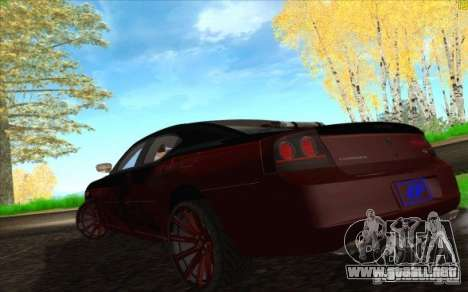 Dodge Charger SRT 8 para GTA San Andreas interior