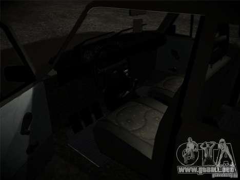 Tofas 124 Serçe para GTA San Andreas vista hacia atrás