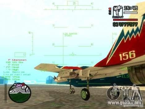MIG 29 OVT para visión interna GTA San Andreas