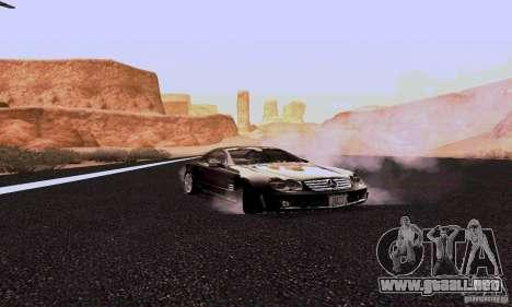Mercedes-Benz SL65 para GTA San Andreas vista hacia atrás