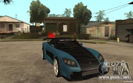 Mazda RX 7 VeilSide para GTA San Andreas vista posterior izquierda