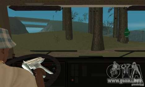 KAMAZ 5460 piel 3 para visión interna GTA San Andreas