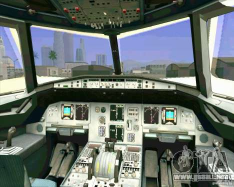 Airbus A-320 aerolínea UTair para vista inferior GTA San Andreas