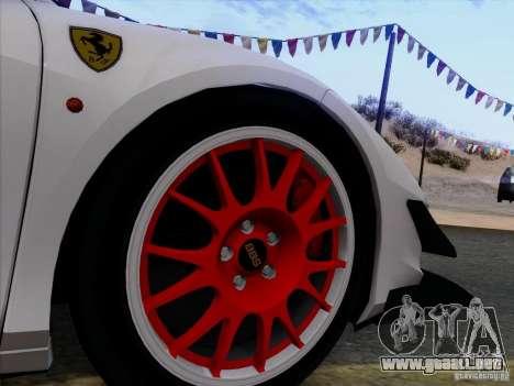 Ferrari 458 Italia Tuned para vista lateral GTA San Andreas
