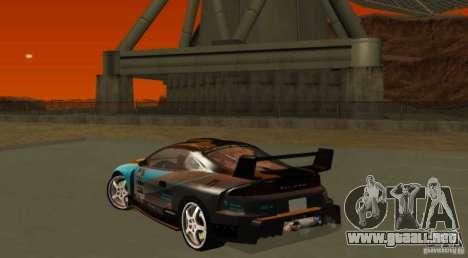 Mitsubishi Eclipse Elite para GTA San Andreas vista hacia atrás