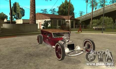 HotRod sedan 1920s no extra para GTA San Andreas vista hacia atrás