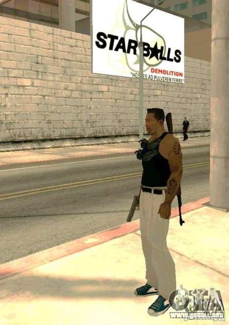 Armas en el cuerpo para GTA San Andreas tercera pantalla