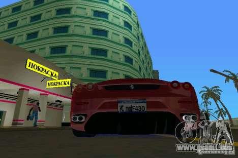 Ferrari F430 Spider 2005 para GTA Vice City visión correcta